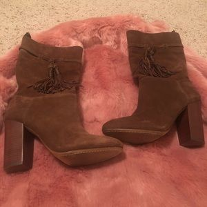 Mid calf Brown Suede Boots size 9